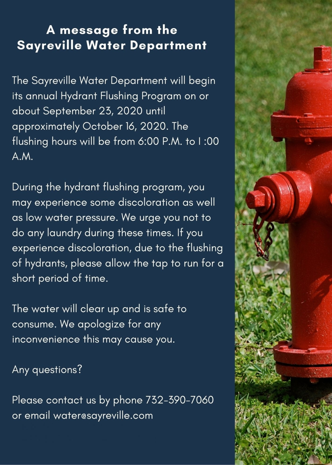 Thank You  David Leitner, Superintendent Water and Sewer  Kenneth Hays, Supervisor Water Distribution